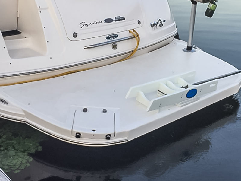 Rear end of a boat